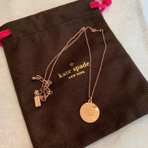 Kate Spade Metallic Rose Is A Rose Pendant Necklac